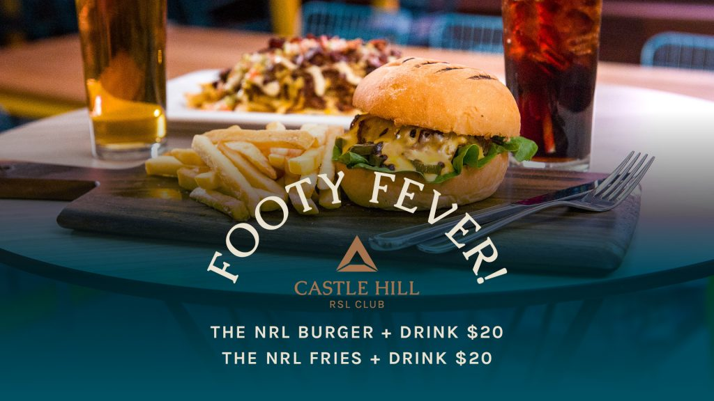Footy Fever Burger and Fries combos