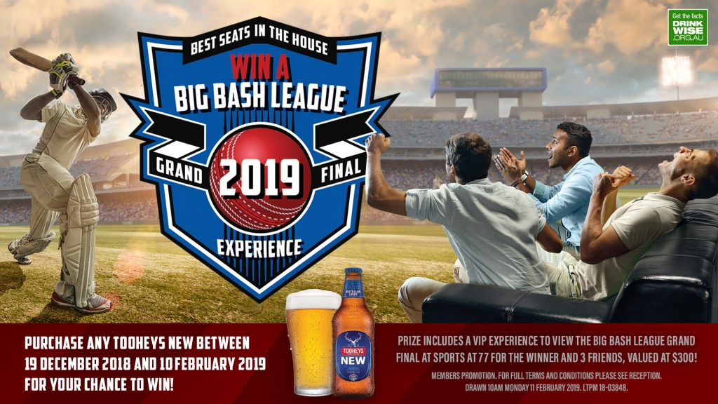 Best Seats in the House Big Bash League Grand Final Experience Promotion