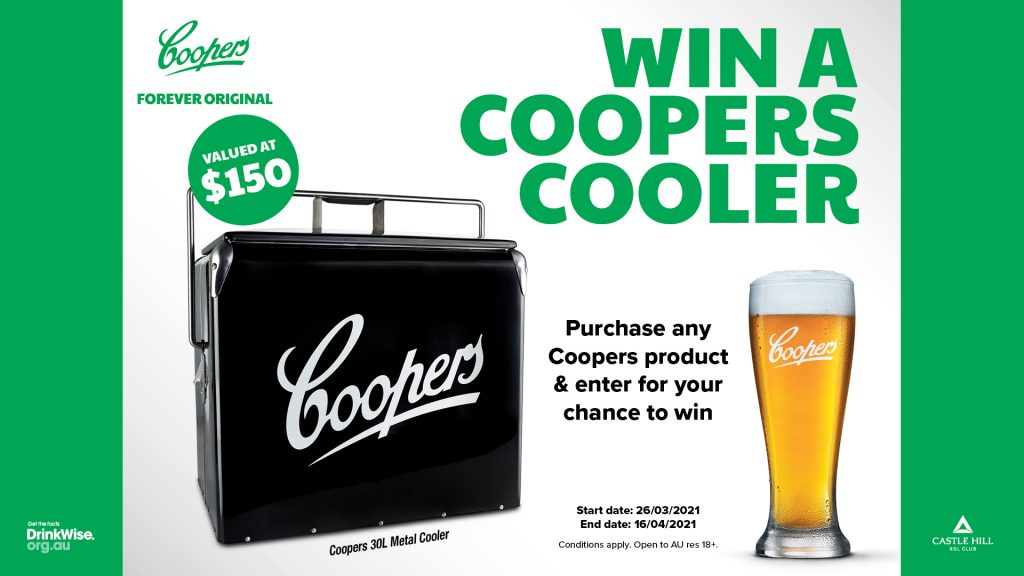 Win a Coopers Cooler