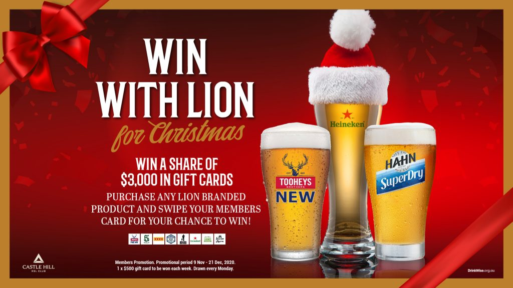 Win with Lion for Christmas