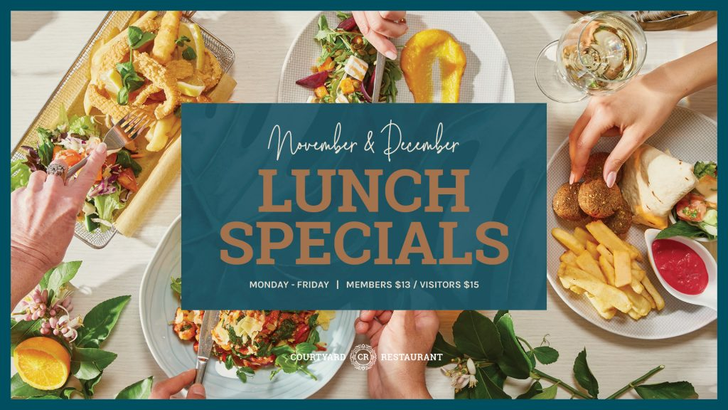 November and December Lunch specials