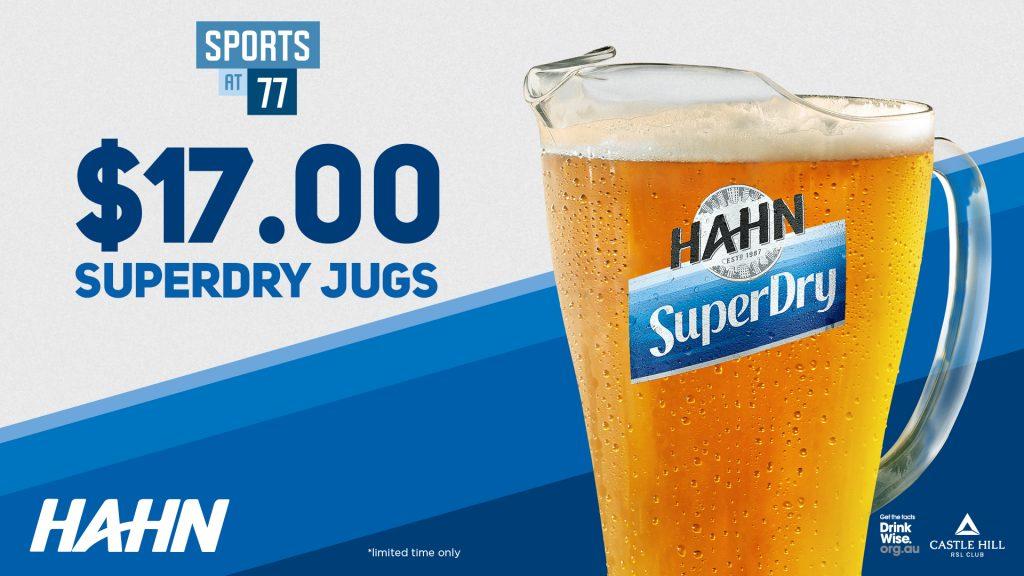 Hahn SuperDry Jugs