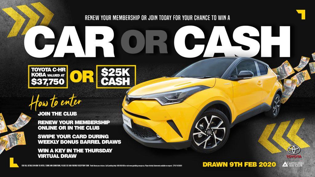 Win a Car or Cash