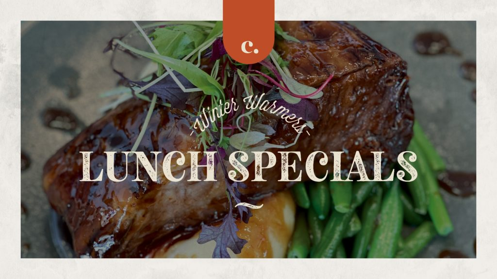 Winter Warmers Lunch Specials