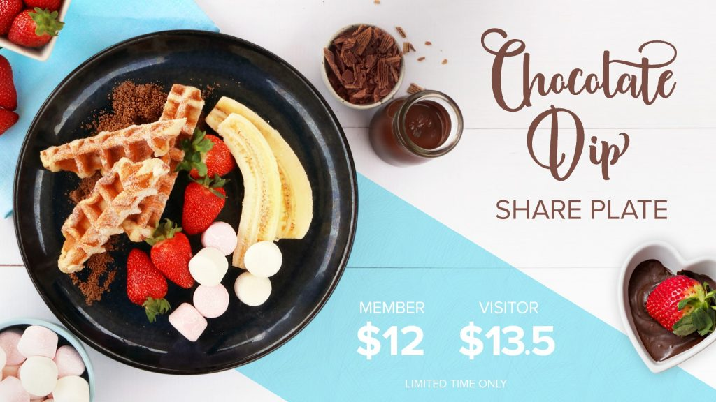 Chocolate Dip Share Plate