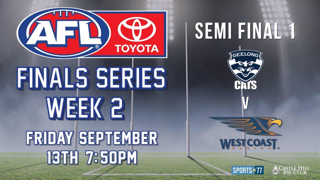 AFL Finals Series: Geelong Cats v West Coast Eagles