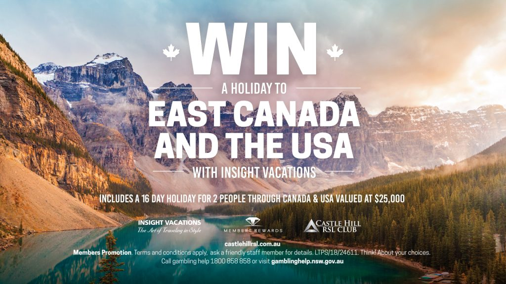 Win a holiday to East Canada and the USA
