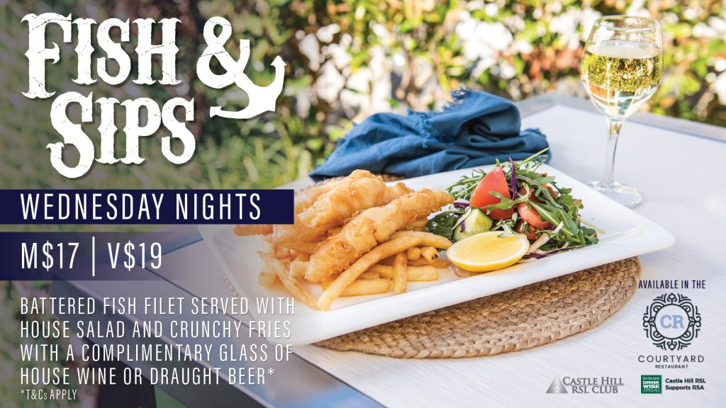 Fish and Sips Wednesday Nights