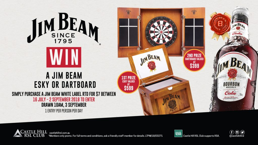 Win a Jim Beam Esky or Dartboard