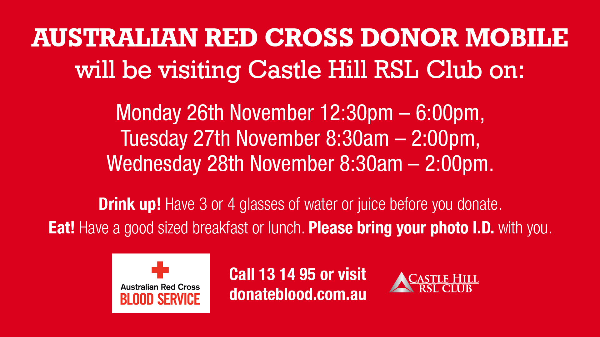 Blood Donation Castle Hill Rsl Hills District