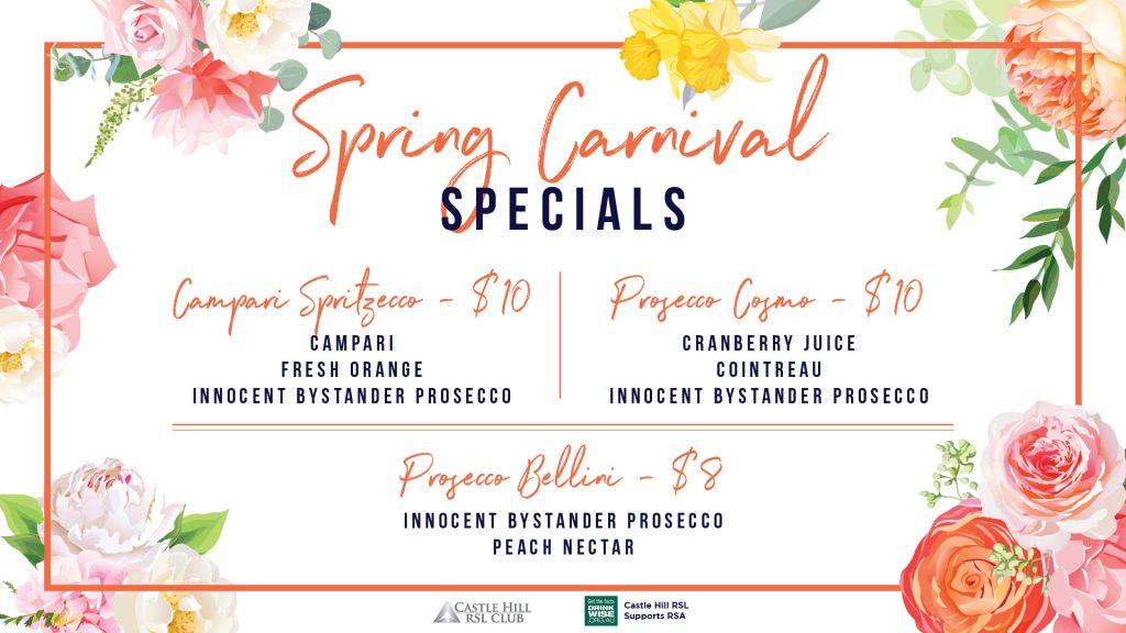 Spring Carnival Specials