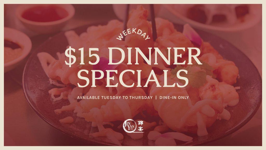 Jin Yan $15 Dinner Specials