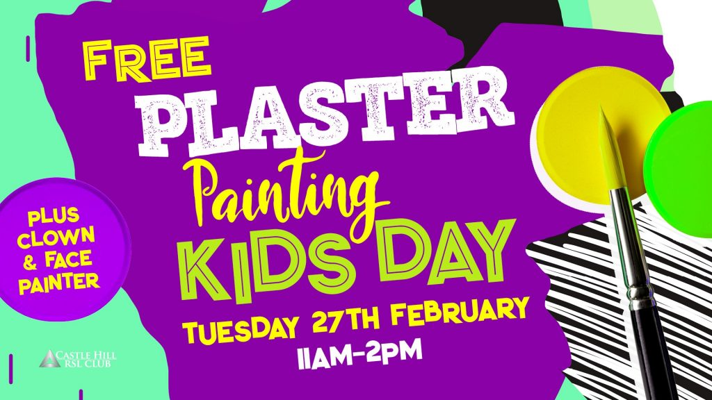 Plaster Painting Kids Day