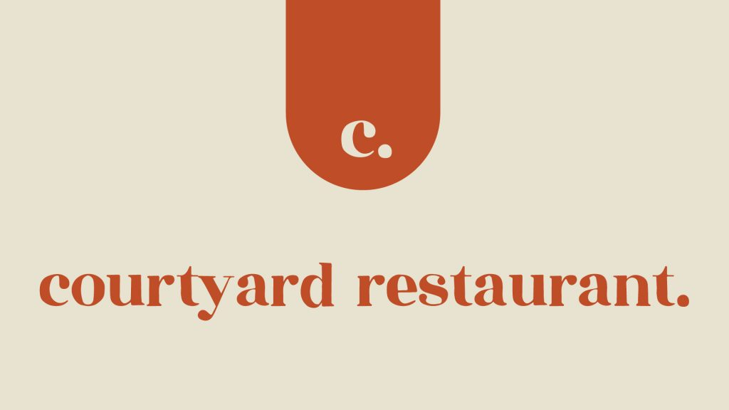 courtyard restaurant.